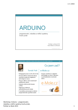Workshop - Arduino - úvod