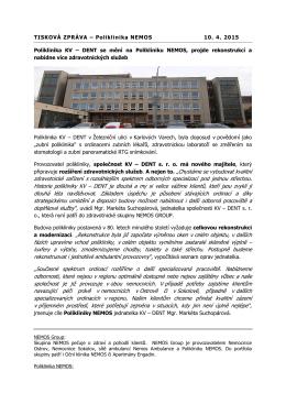 zdravotnické zařízení s rozsáhlejším spektrem odborných
