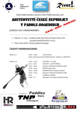 MISTROVSTVÍ ČESKÉ REPUBLIKY V PADDLE