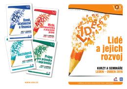 Brožura Lidé a jejich rozvoj