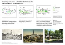 Historický vývoj zeleně - náměstí Bedřicha Hrozného Lysá nad