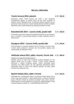 Vinný lístek - Hotel Havel Rychnov nad Kněžnou | hotelhavel.eu