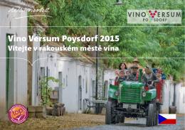 Vino Versum Poysdorf 2015