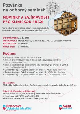 pozvánka/program - Vzdělávací institut AGEL