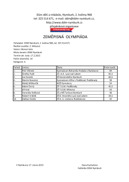 Výsledky OK ZeO podle kategorií