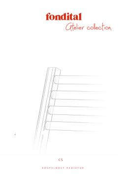 Katalog - Koupelnový radiátor COOL