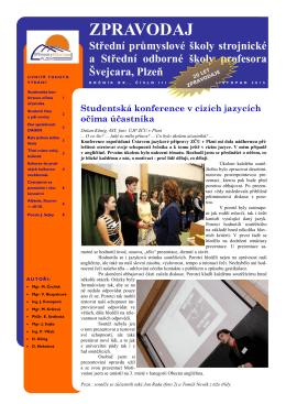 zpravodaj - Střední průmyslová škola strojnická a Střední odborná