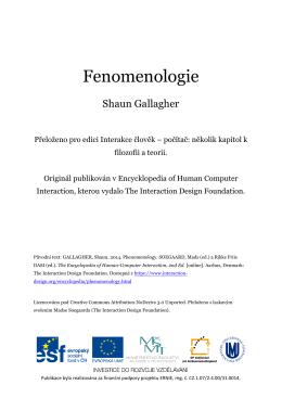 Fenomenologie - O projektu ERNIE