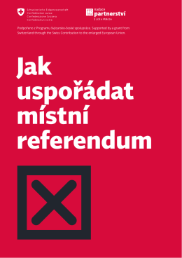 Jak uspořádat místní referendum