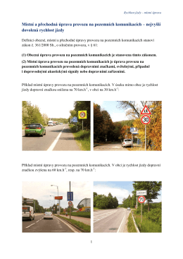 Místní a přechodná úprava provozu na pozemních komunikacích