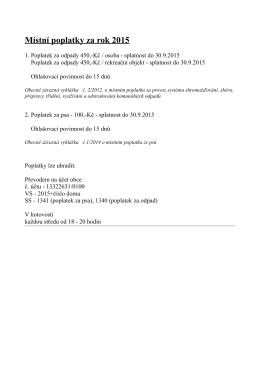 Místní poplatky za rok 2015