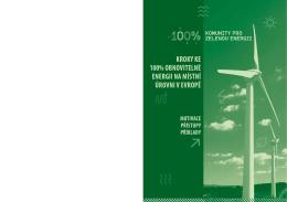 Kroky ke 100% obnovitelné energii na místní úrovni v Evropě
