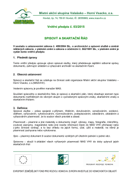 Vniřní předpis č. 03/2015 - Místní akční skupina Valašsko