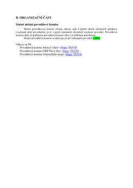 B. ORGANIZAČNÍ ČÁST Statut místní povodňové komise