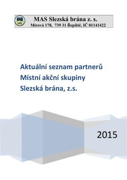 Aktuální seznam partnerů Místní akční skupiny Slezská brána, z.s.