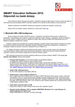 SMART Education Software 2015: Odpovědi na časté