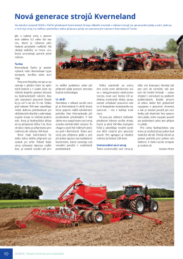 Nová generace strojů Kverneland - Zemědělský týdeník, Mth 02/2015