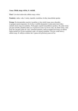 Téma: Otisk stop zvířat, 4. ročník