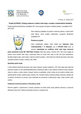 informační materiál - Výzkumný ústav vodohospodářský T. G.