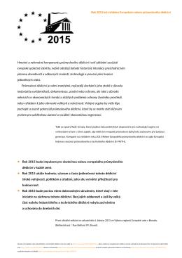 Platforma Industriální stopy jako součást Evropského roku