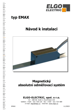 typ EMAX Návod k instalaci - ELGO