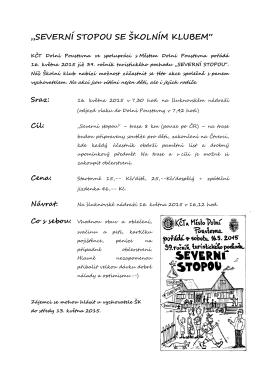 """""""SEVERNÍ STOPOU SE ŠKOLNÍM KLUBEM"""""""