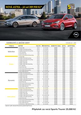 Ceník - Opel