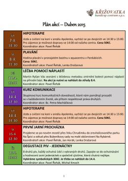 Plán akcí na červen 2015 – PDF
