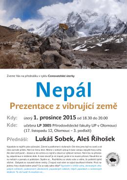 Nepál Prezentace z vibrující země