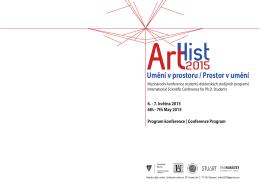 ArtHist aktuální program s anotacemi