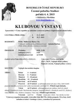 propozice - Boxerklub ČR