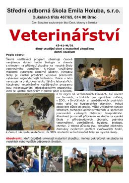 Veterinářství - SOŠ Emila Holuba
