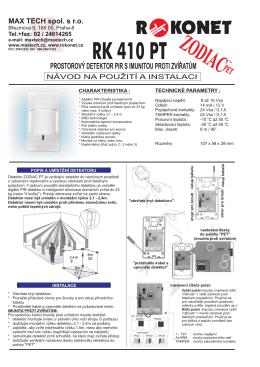 RK 410 PT.cdr - Alarm Absolon, spol. s .ro