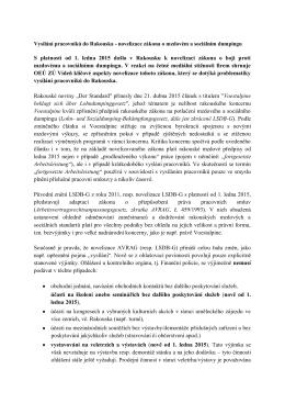 S platností od 1. ledna 2015 došlo v Rakousku k novelizaci zákona