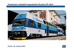 Prezentace výsledků hospodaření Skupiny ČD 2014