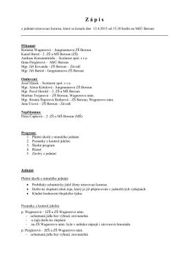 Zápis stravovací komise 13.4.15