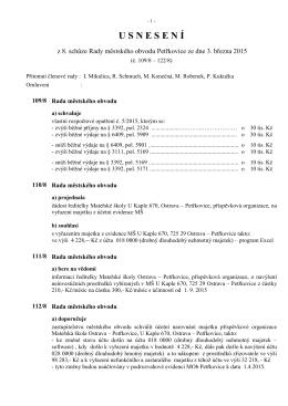 08. schůze - Úřad městského obvodu Petřkovice