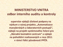 Ing. Pavla Nováková - Ministerstvo vnitra