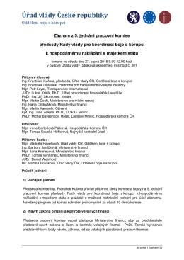 Záznam ze 5. jednání pracovní komise k HNMS_2015.08.27