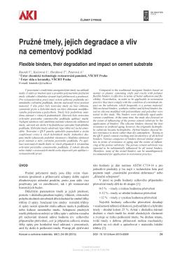 Pružné tmely, jejich degradace a vliv na cementový podklad Flexible