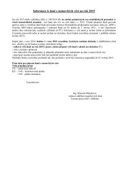 Informace k DNV na rok 2015
