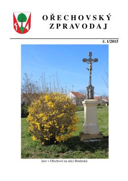 Ořechovský zpravodaj 1/2015