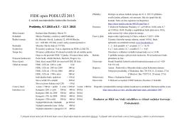 FIDE open PODLUŽÍ 2015