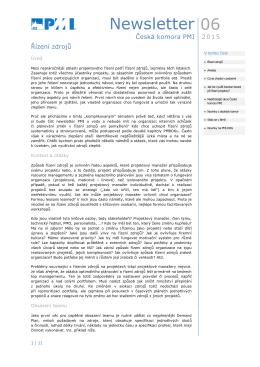 06 Newsletter - Společnost pro projektové řízení
