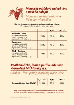 Moravské odrůdové sudové víno z našeho sklepu Moravian varietal