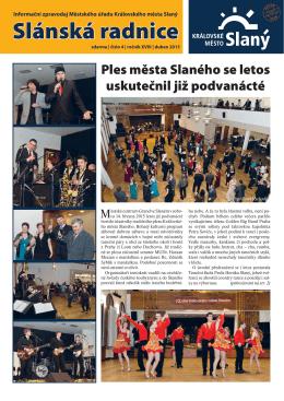 Slánská radnice 4/duben 2015