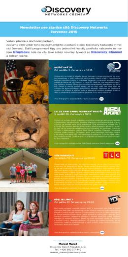 Newsletter pro stanice sítě Discovery Networks červenec 2015