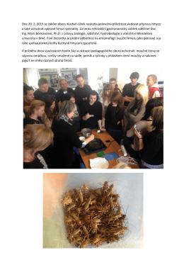 Dne 20. 2. 2015 se žákům oboru Kuchař