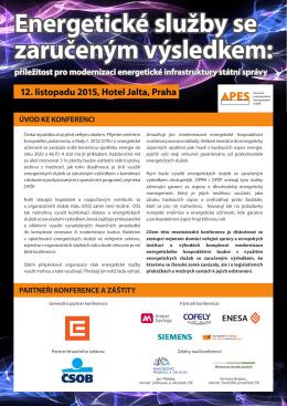 konferenční brožuře. - APES - Asociace Poskytovatelů