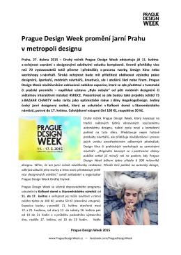 Prague Design Week promění jarní Prahu v metropoli designu